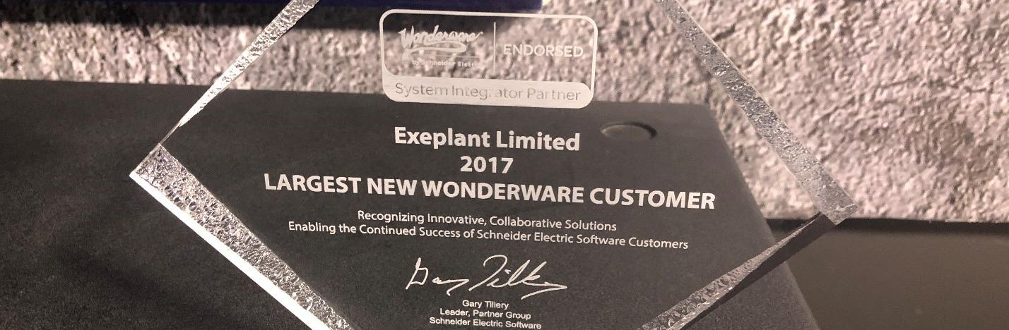 At Wonderware Forum 2018, ExePlant receives award for largest project on Wonderware Platform